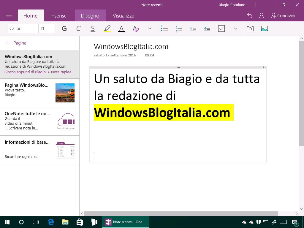 office-mobile-onenote-testo-evidenziato