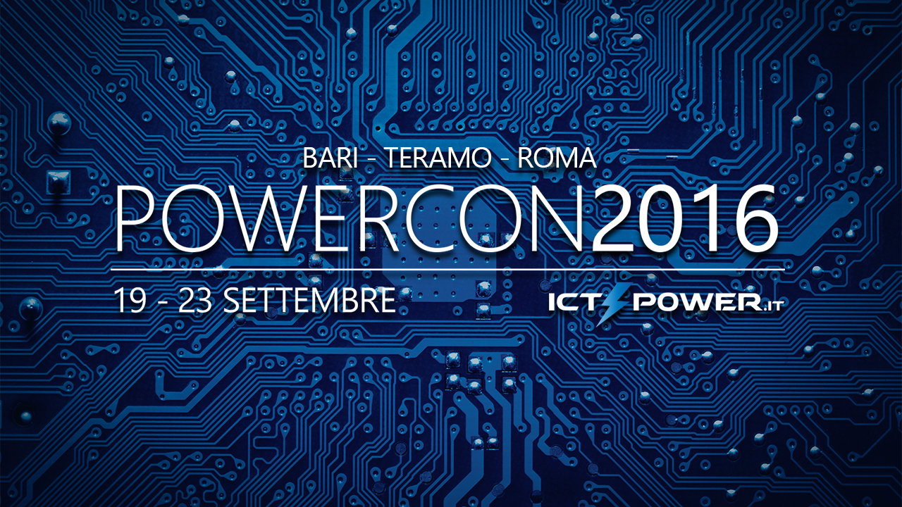 POWERCON2016 - Tour della Community ICT Power