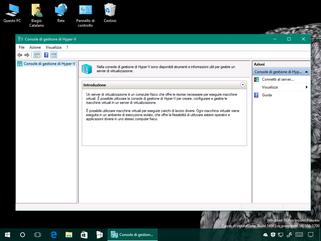 console-di-gestione-di-hyper-v-windows-10-build-14965