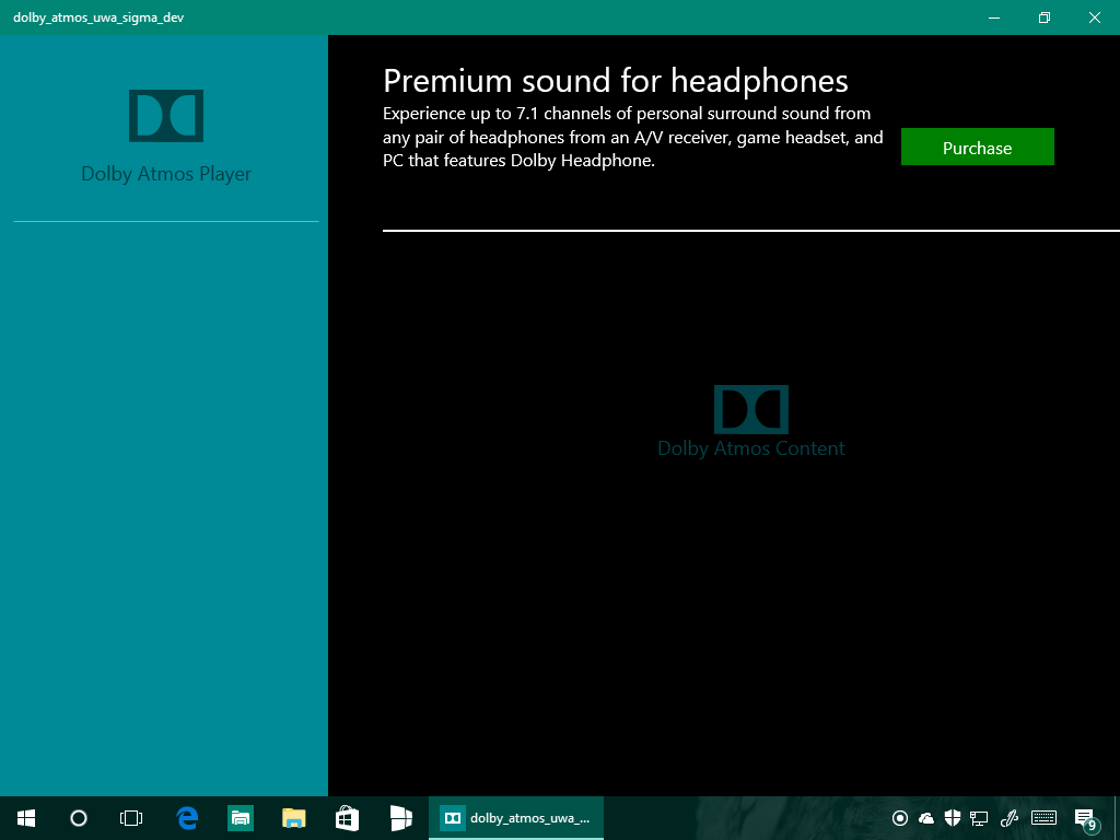 Download app Dolby Atmos per PC e tablet Windows 10