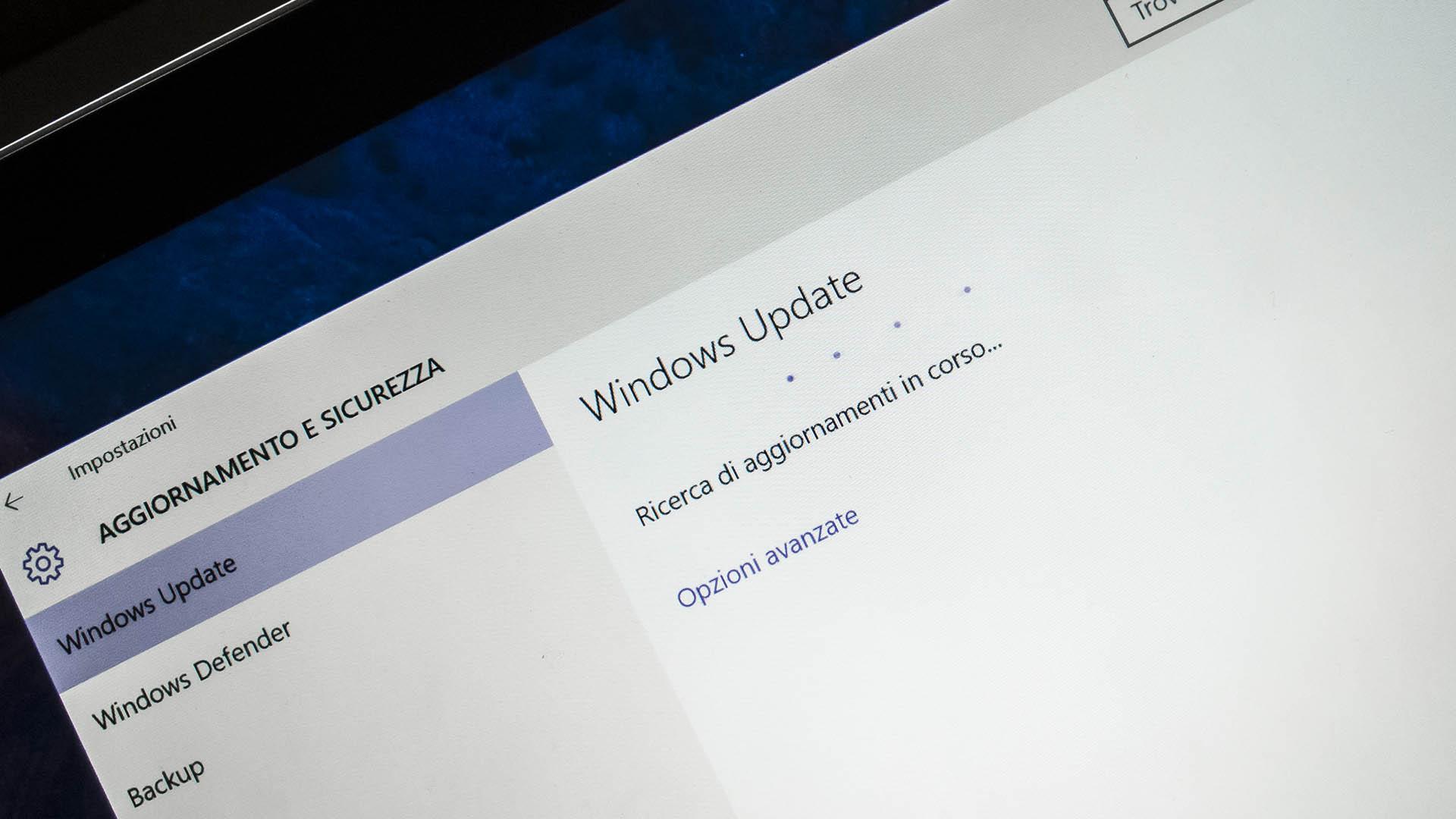 Aggiornamento Windows 10 Update nuova versione 1511 1607 1703 1709