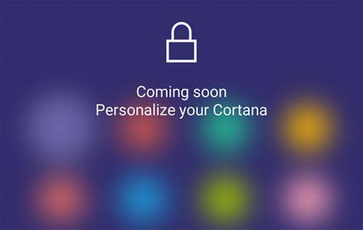 cortana personalizzazione