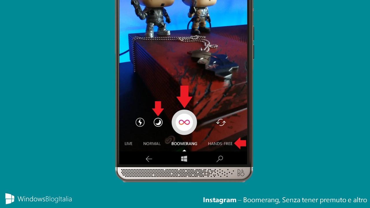 Instagram - Boomerang, Hands-free e altro