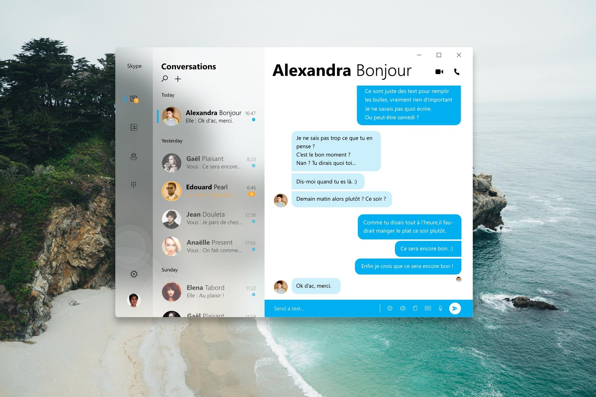 Skype Neon Concept
