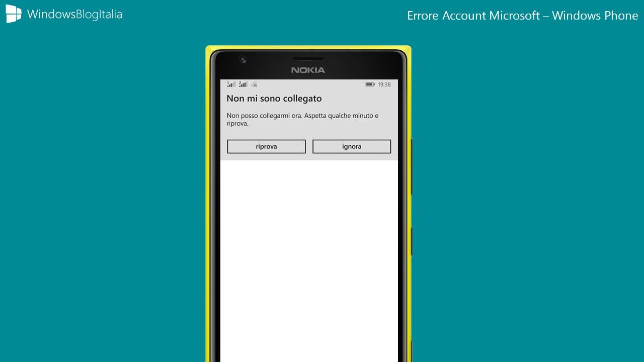 Problemi Account Microsoft - Windows Phone