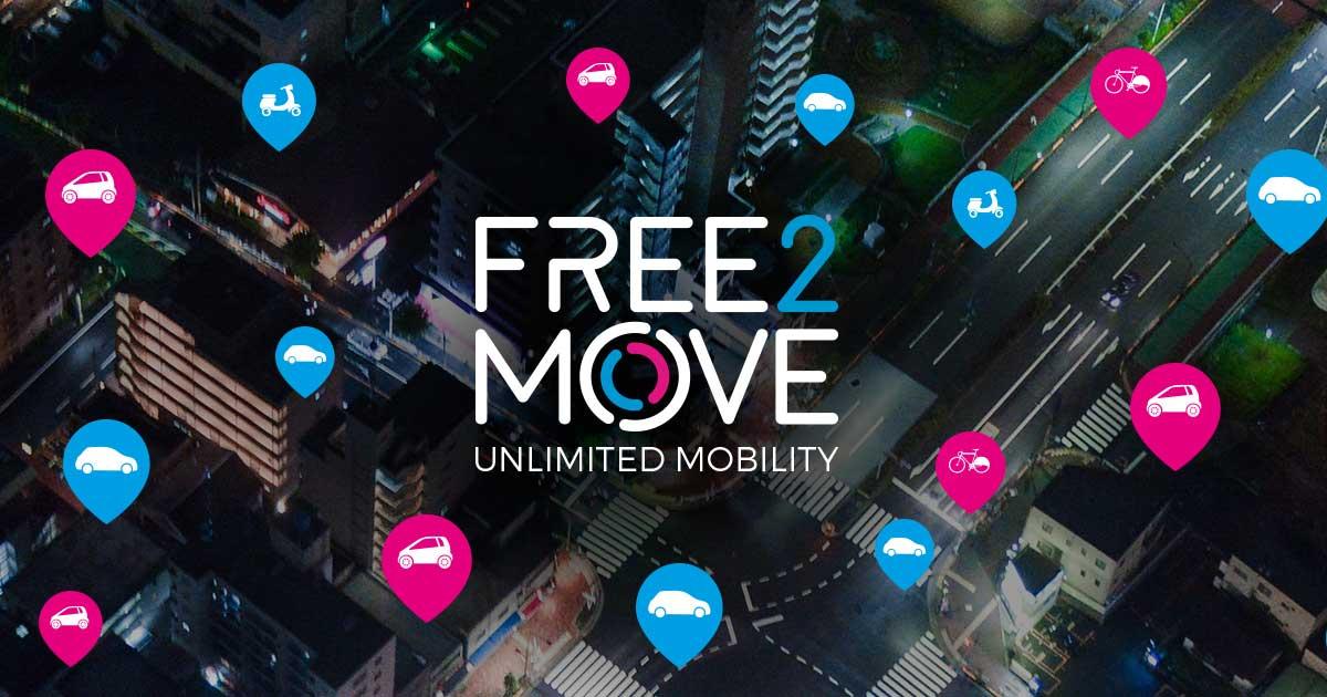 Free2Move app per il car sharing
