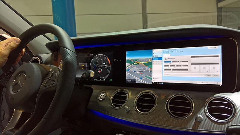 HybridForms su Mercedes classe E