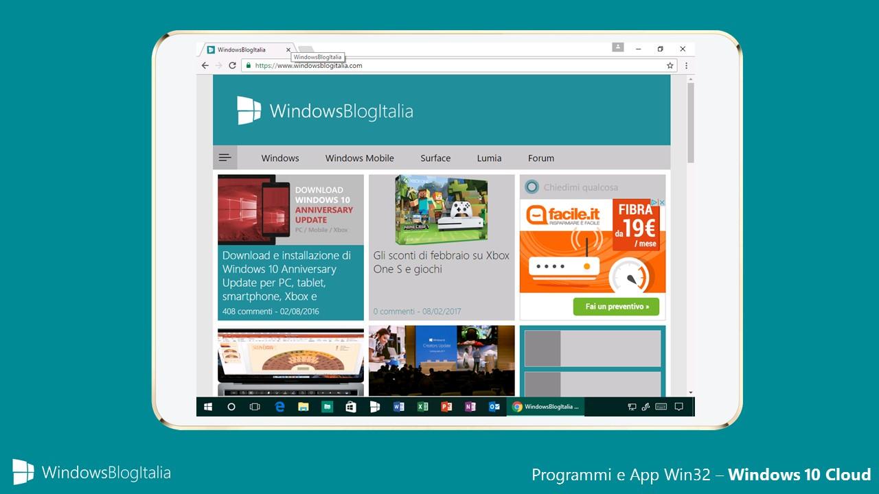 Programmi e app Win32 - Windows 10 Cloud