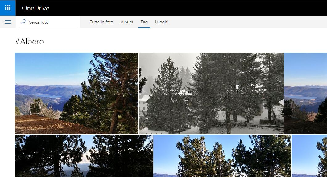 Tag automatico delle foto su OneDrive