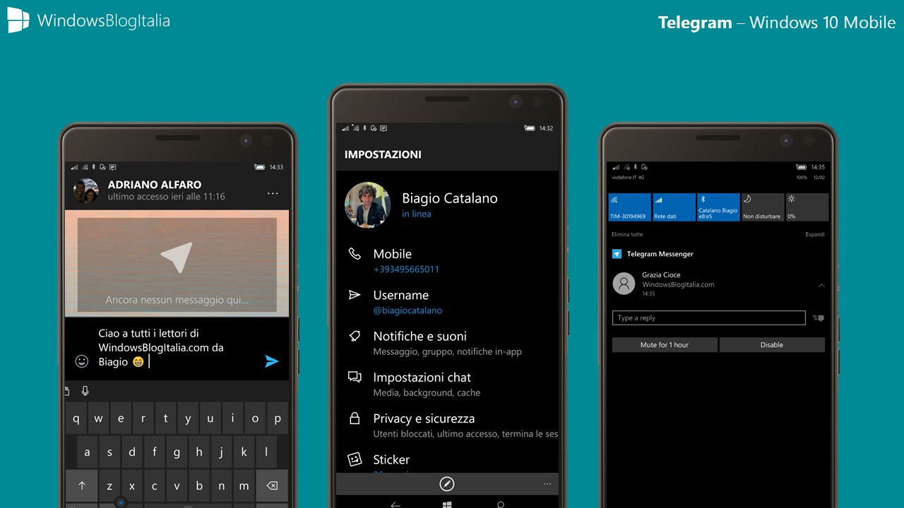 Telegram - Windows 10 Mobile