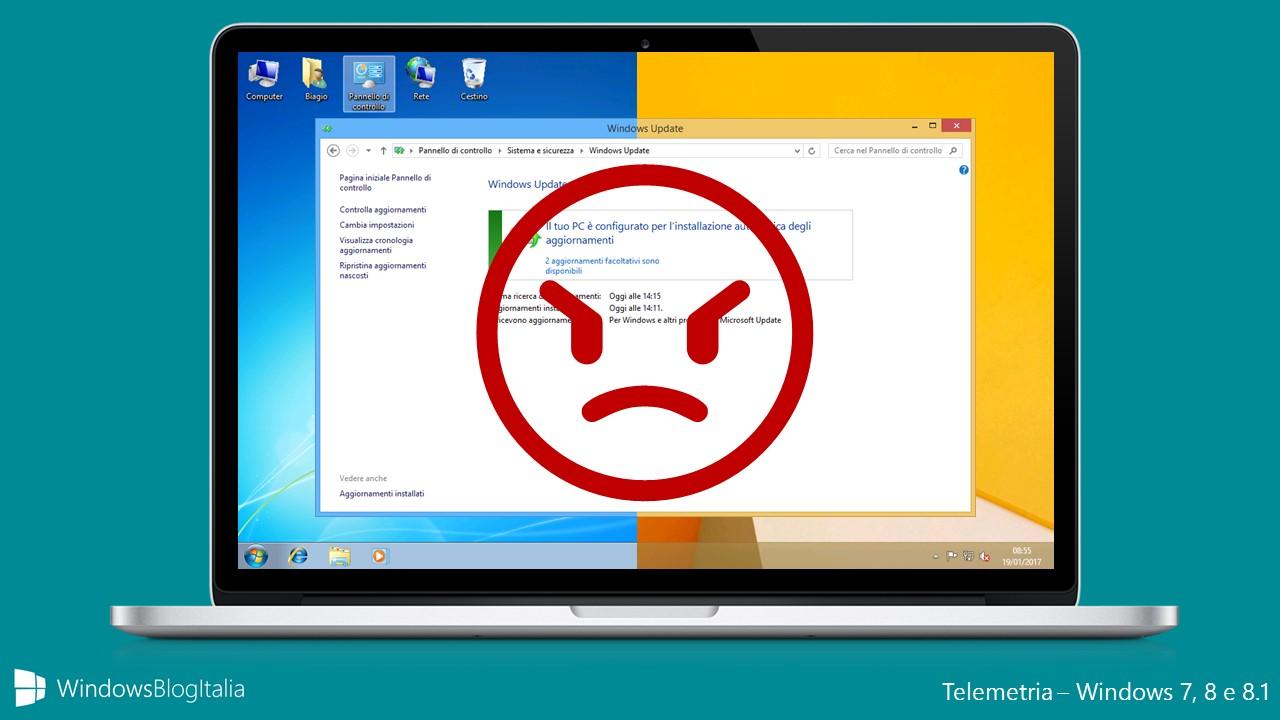 Telemetria - Microsoft torna a spiare gli utenti di Windows 7, 8 e 8.1