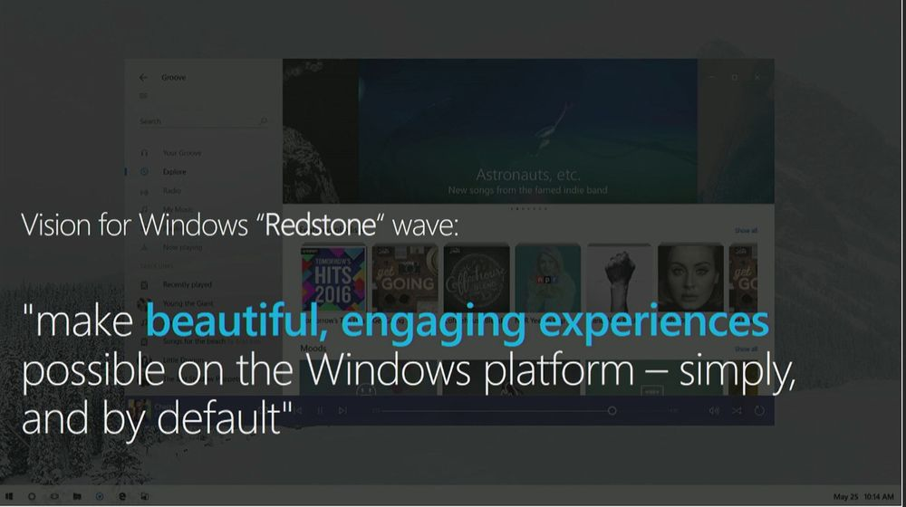Slide relativa a Project Neon, la nuova interfaccia grafica per Windows 10