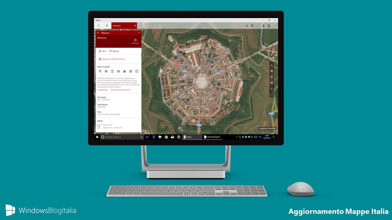 Aggiornamento mappe immagini aeree Italia