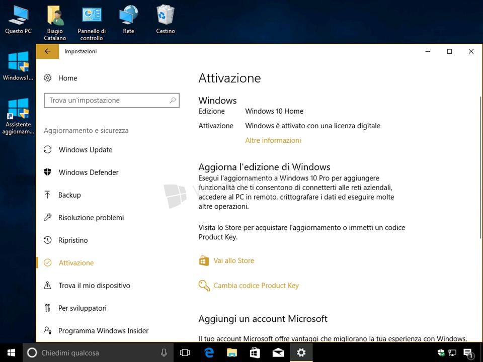 aggiornare a windows 10 gratis