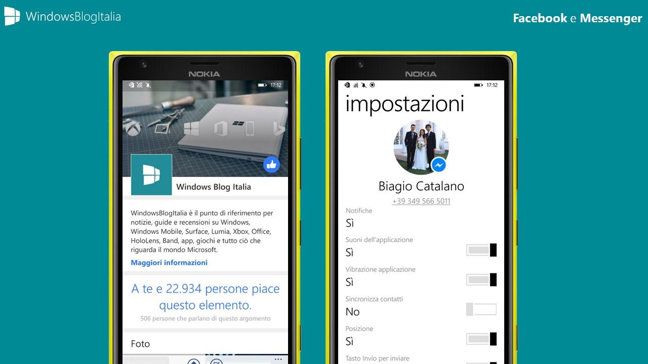 Facebook e Messenger - Windows 8.x e Windows Phone 8.x