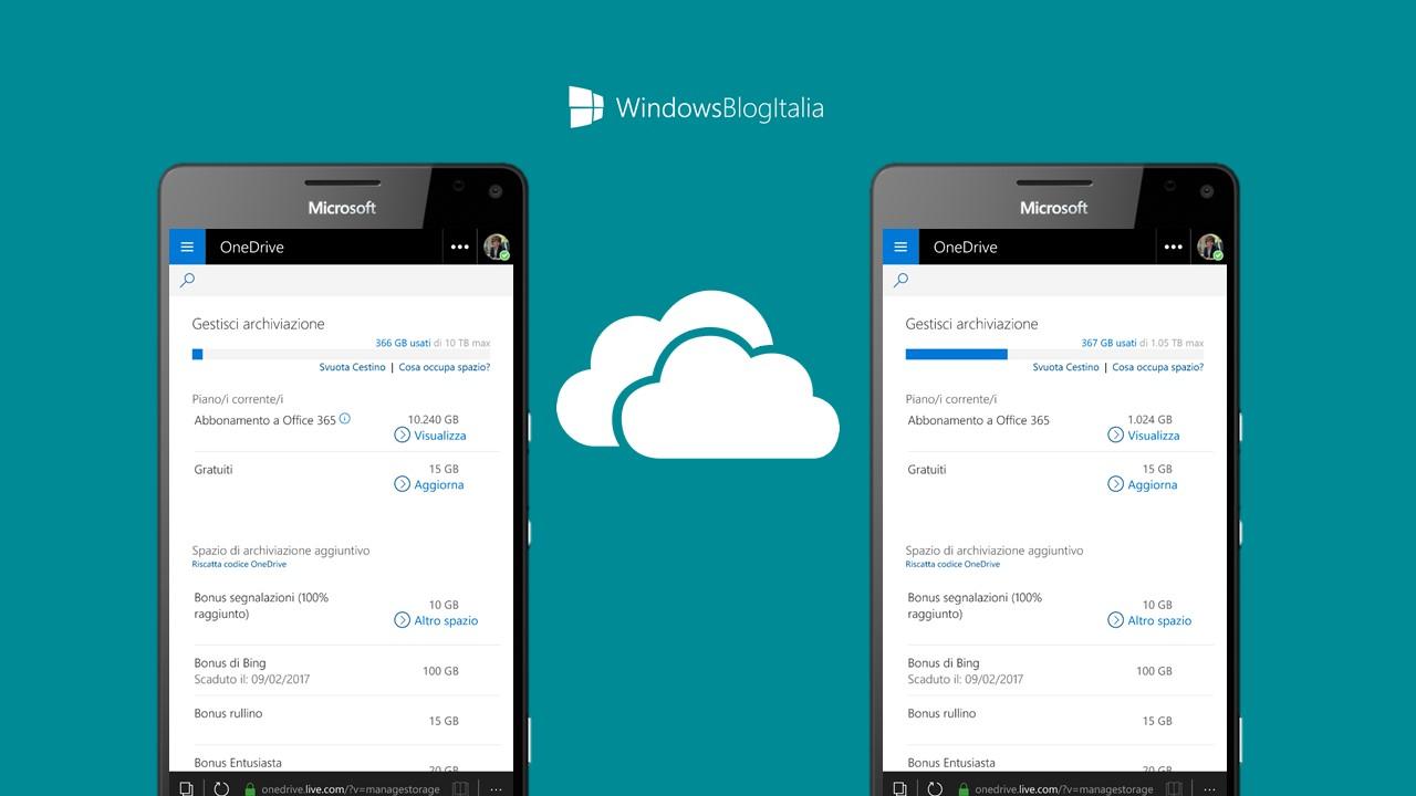 Riduzione spazio OneDrive - Microsoft