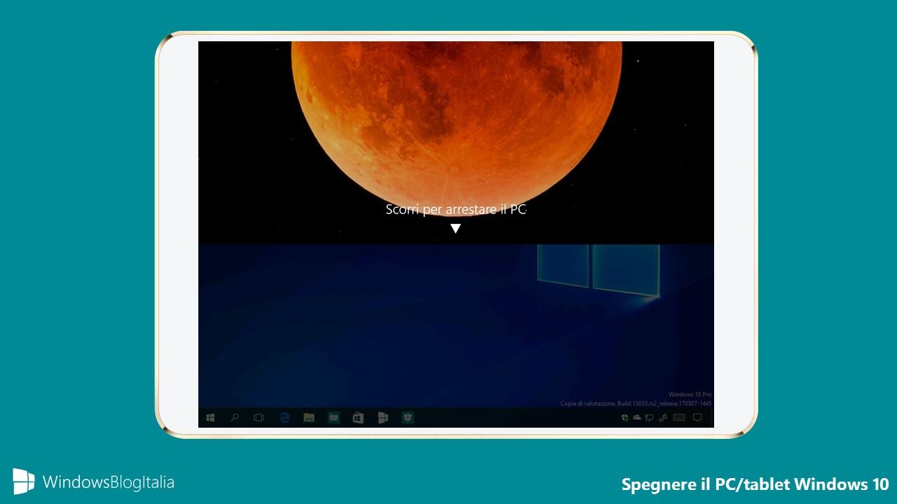 Slide To ShutDown - Spegnere qualsiasi PC e tablet Windows 10 con uno slide