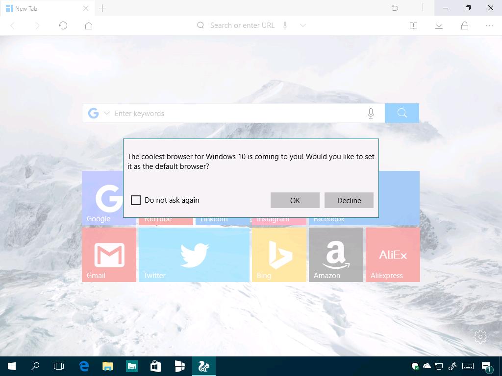 Download UC Browser per PC e tablet Windows 10