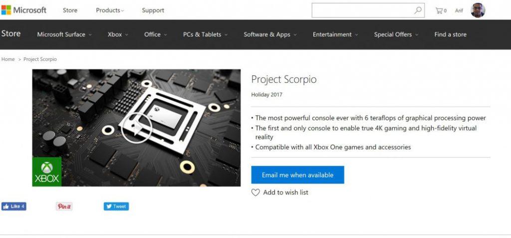 Project Scorpio - Microsoft Store