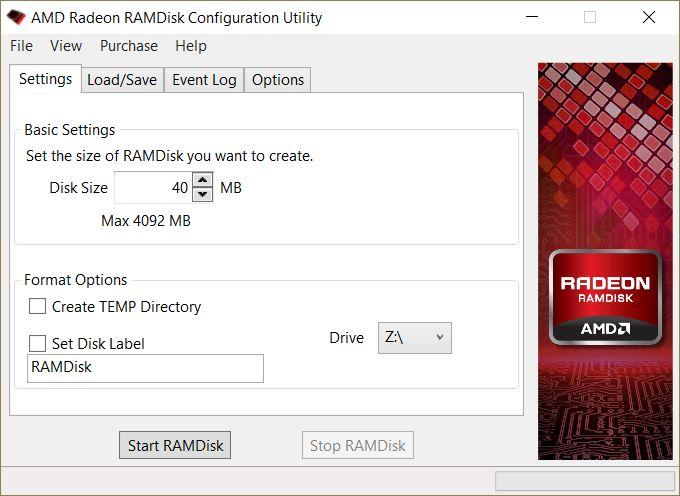AMD Radeon RAM Disk