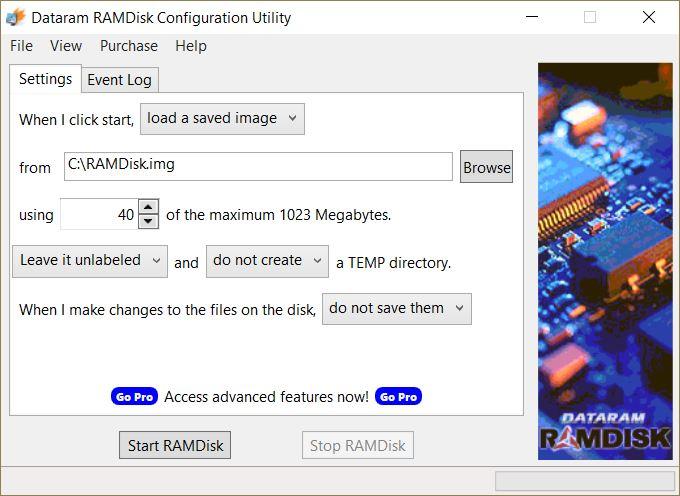 Gavotte RAM Disk