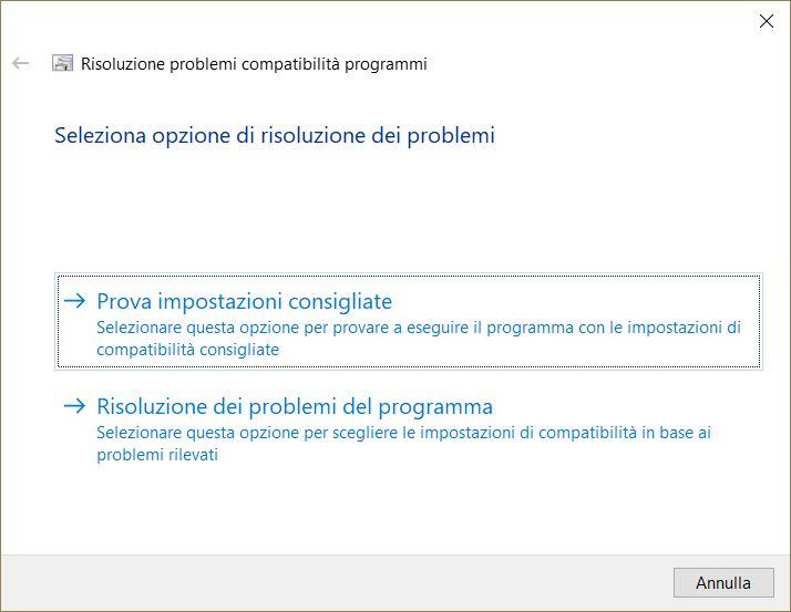 Eseguibili vecchi su Windows 10
