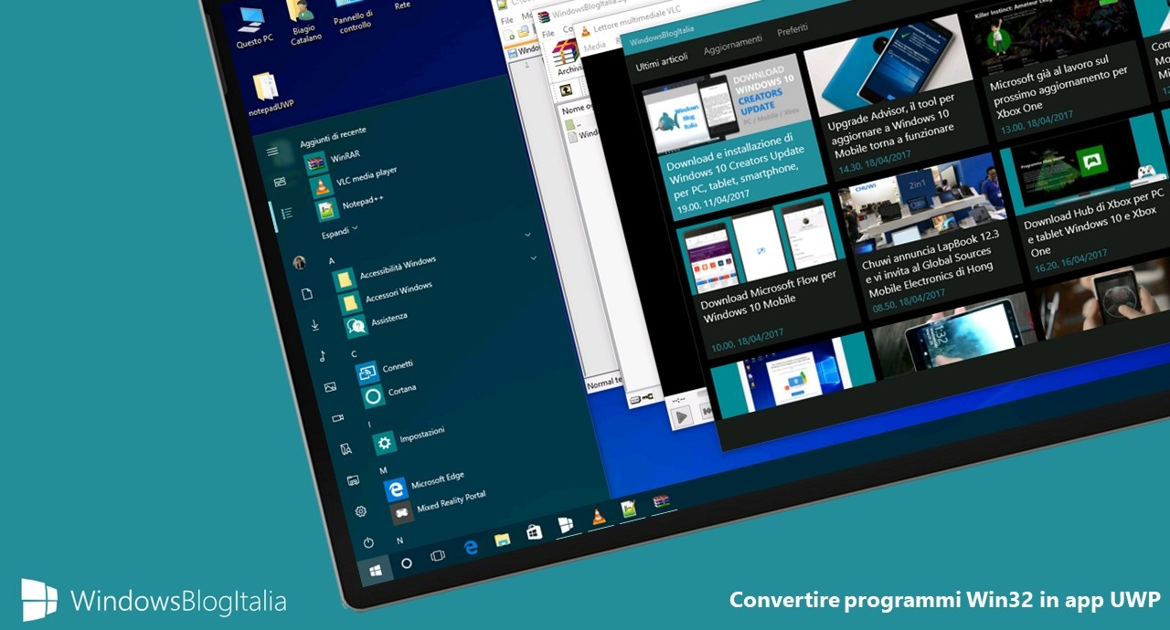 Come convertire qualsiasi programma Win32 in app UWP