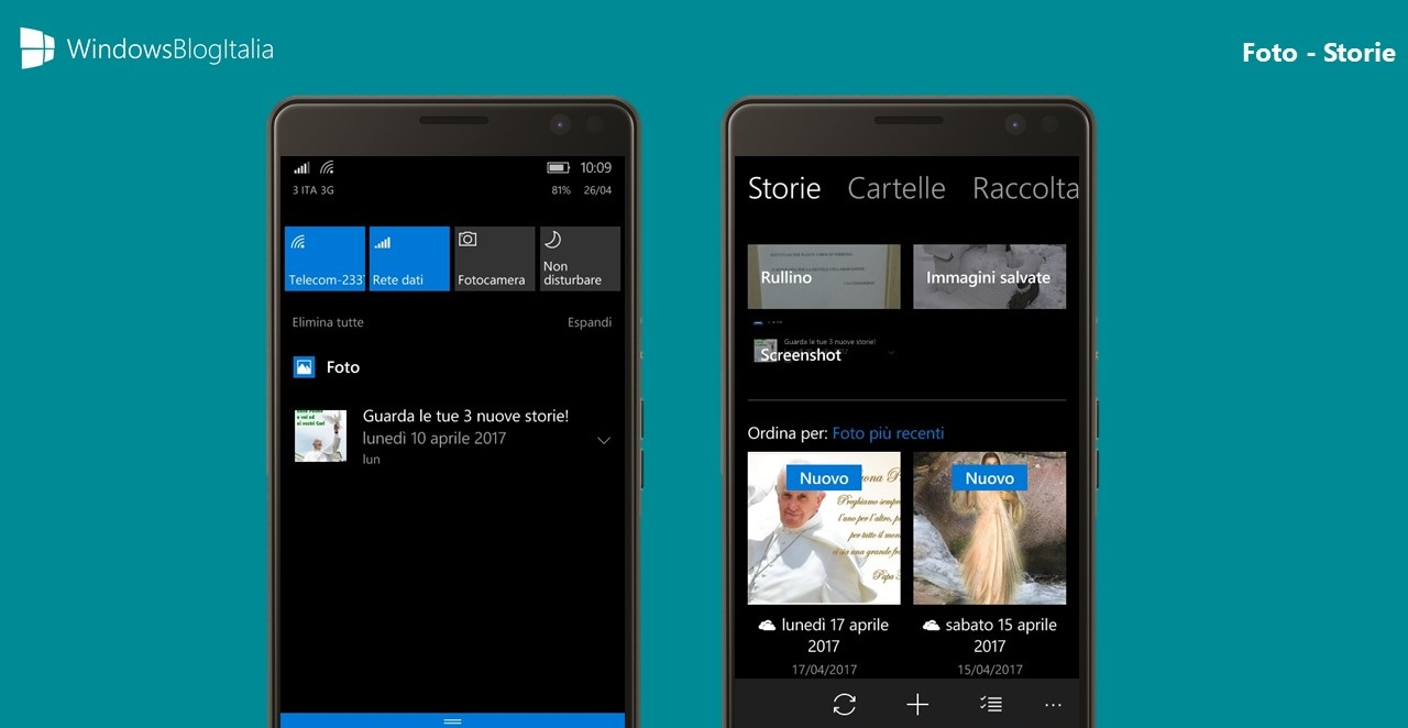 Storie app Foto Windows 10