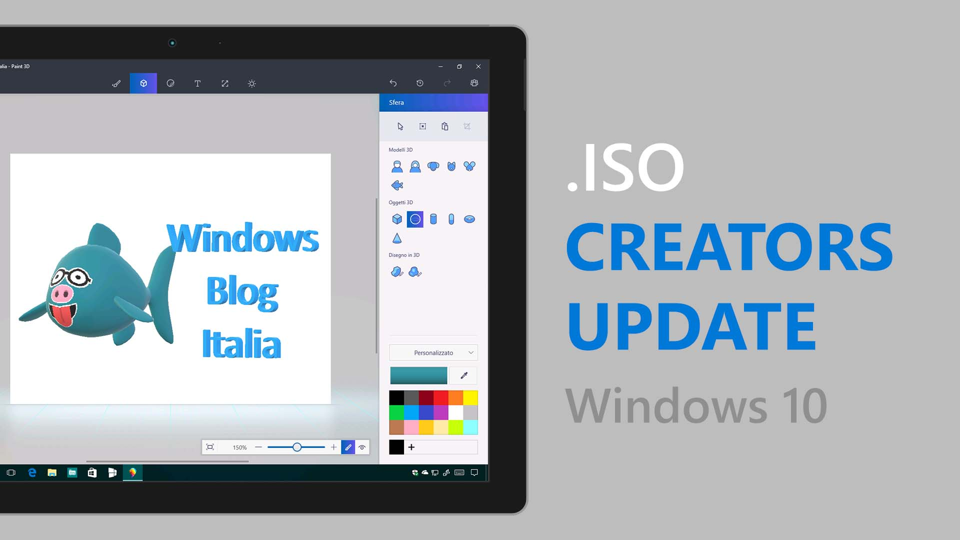 .ISO di Windows 10 Creators Update