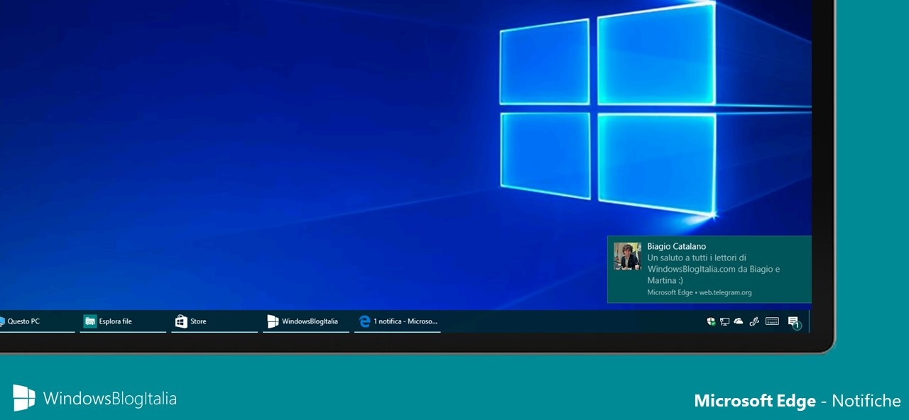 Notifiche Microsoft Edge - Windows 10 Creators Update