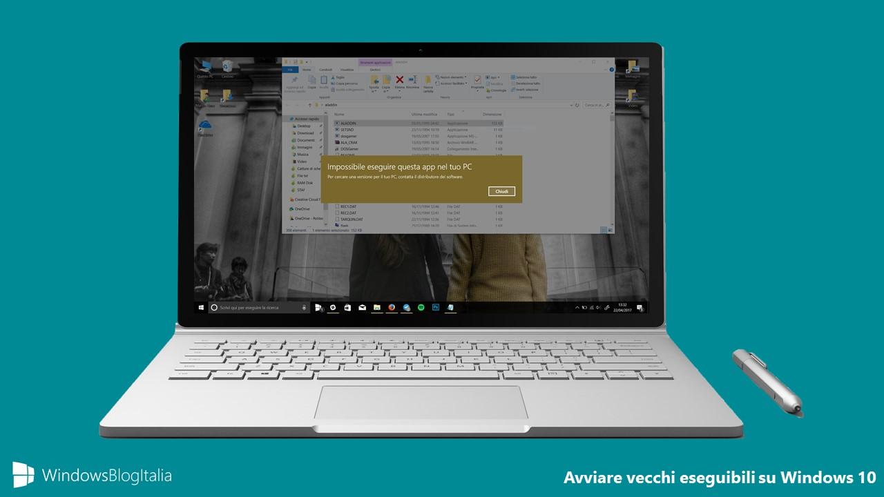 Avviare vecchi giochi e programmi su Windows 10