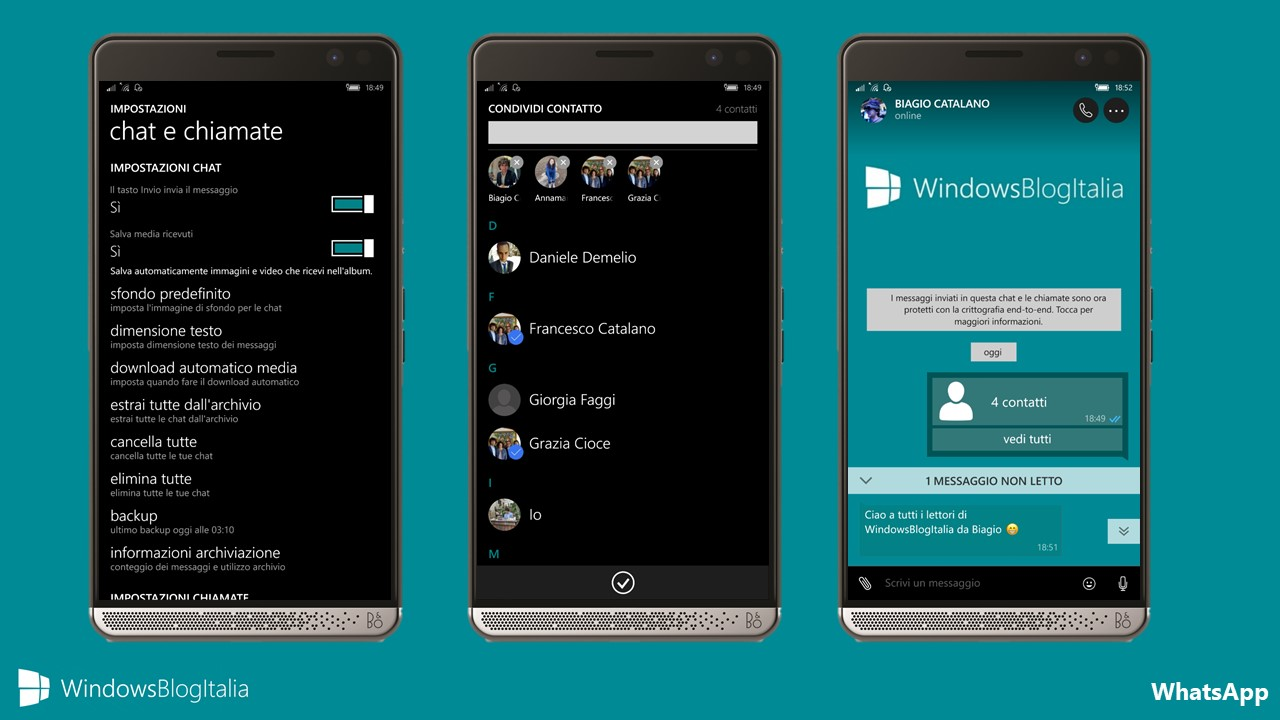 WhatsApp - Windows Phone e Windows Mobile