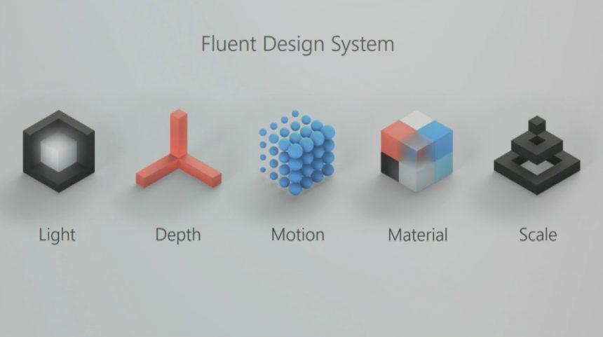Fluent Design pilastri