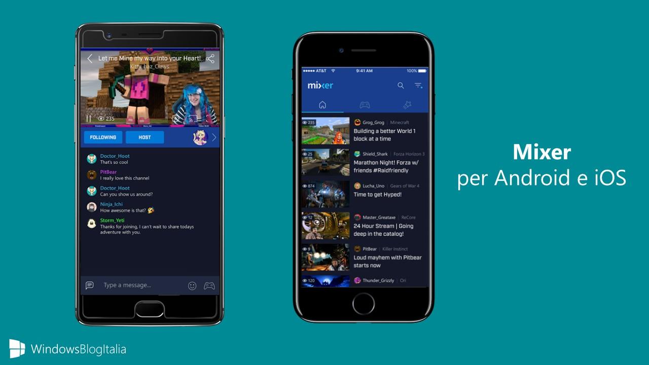 Mixer per Android iOS app