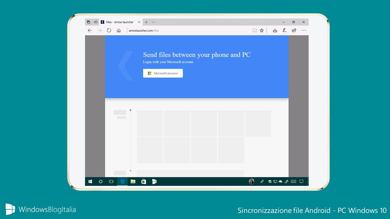 Sincronizzazione file Android - Windows 10