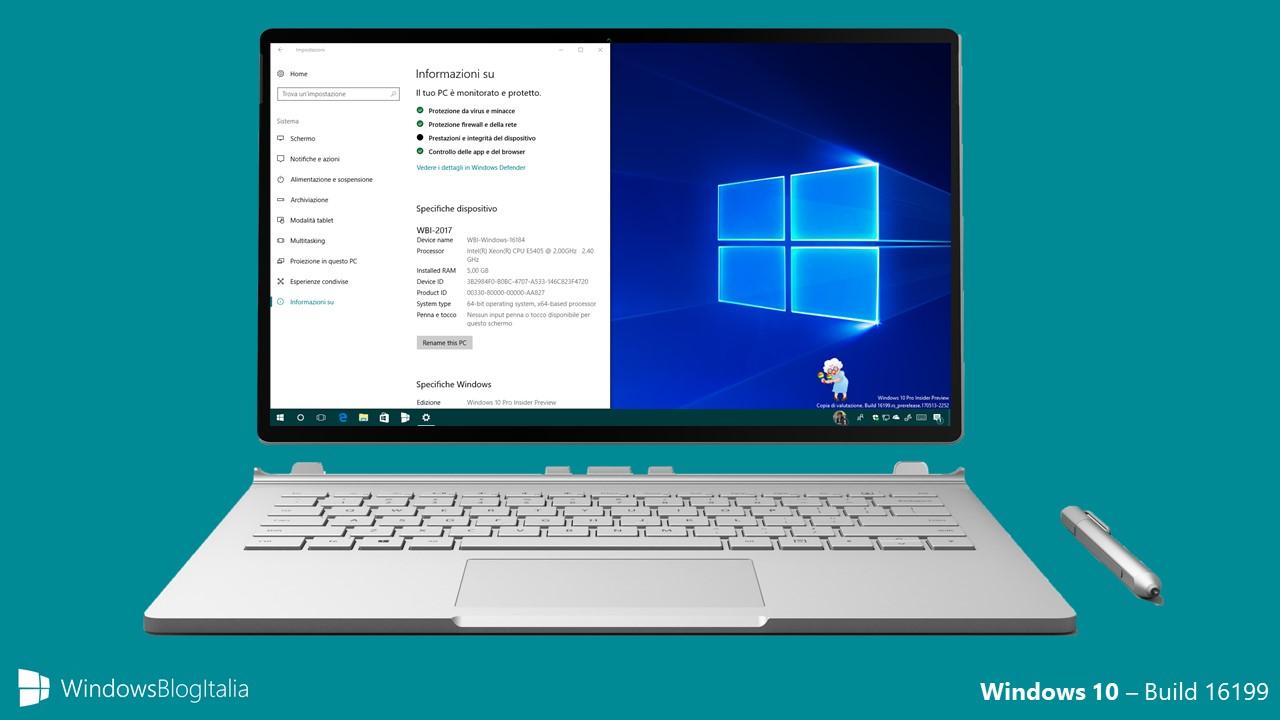 Windows 10 - Build 16199