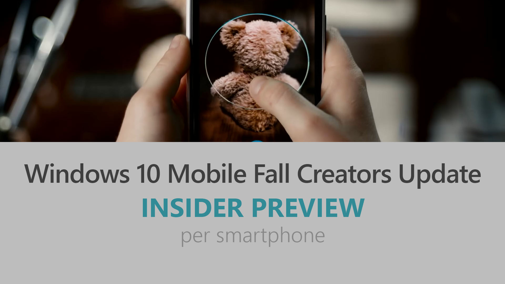 Windows 10 Mobile Fall Creators Update - Insider Preview