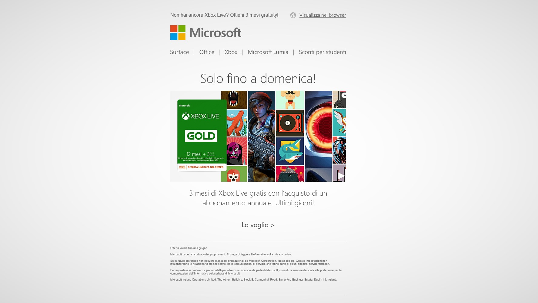 Xbox Live Gold gratis 3 mesi