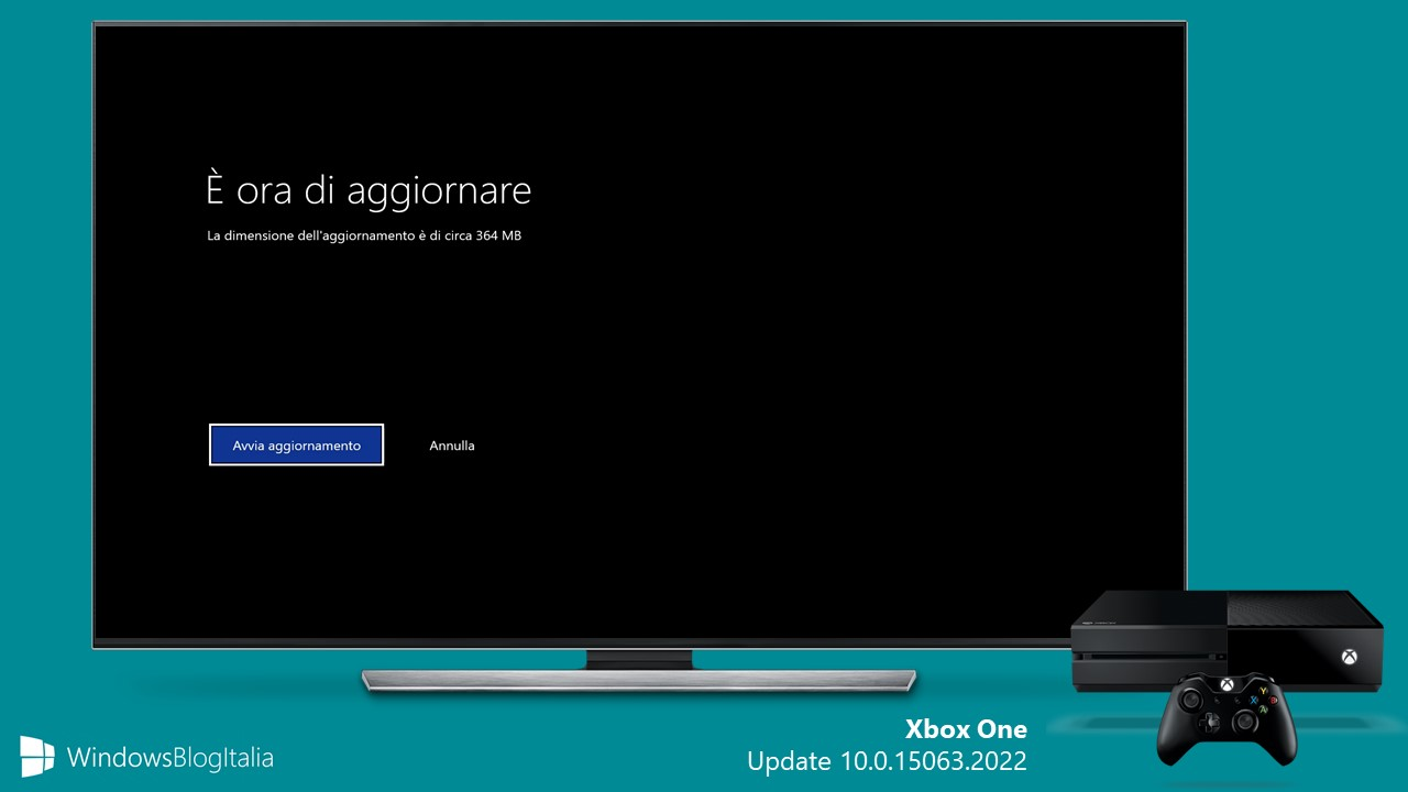 Xbox One update 10.0.15063.2022