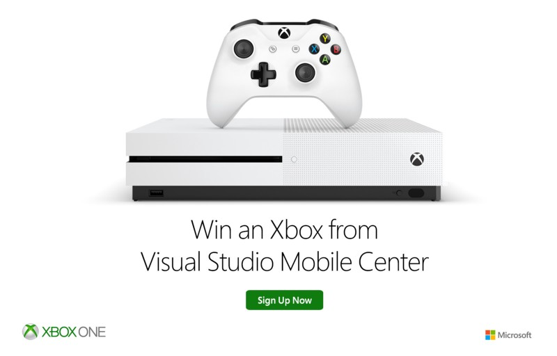 Visual Studio Mobile Center - Xbox One S 2TB