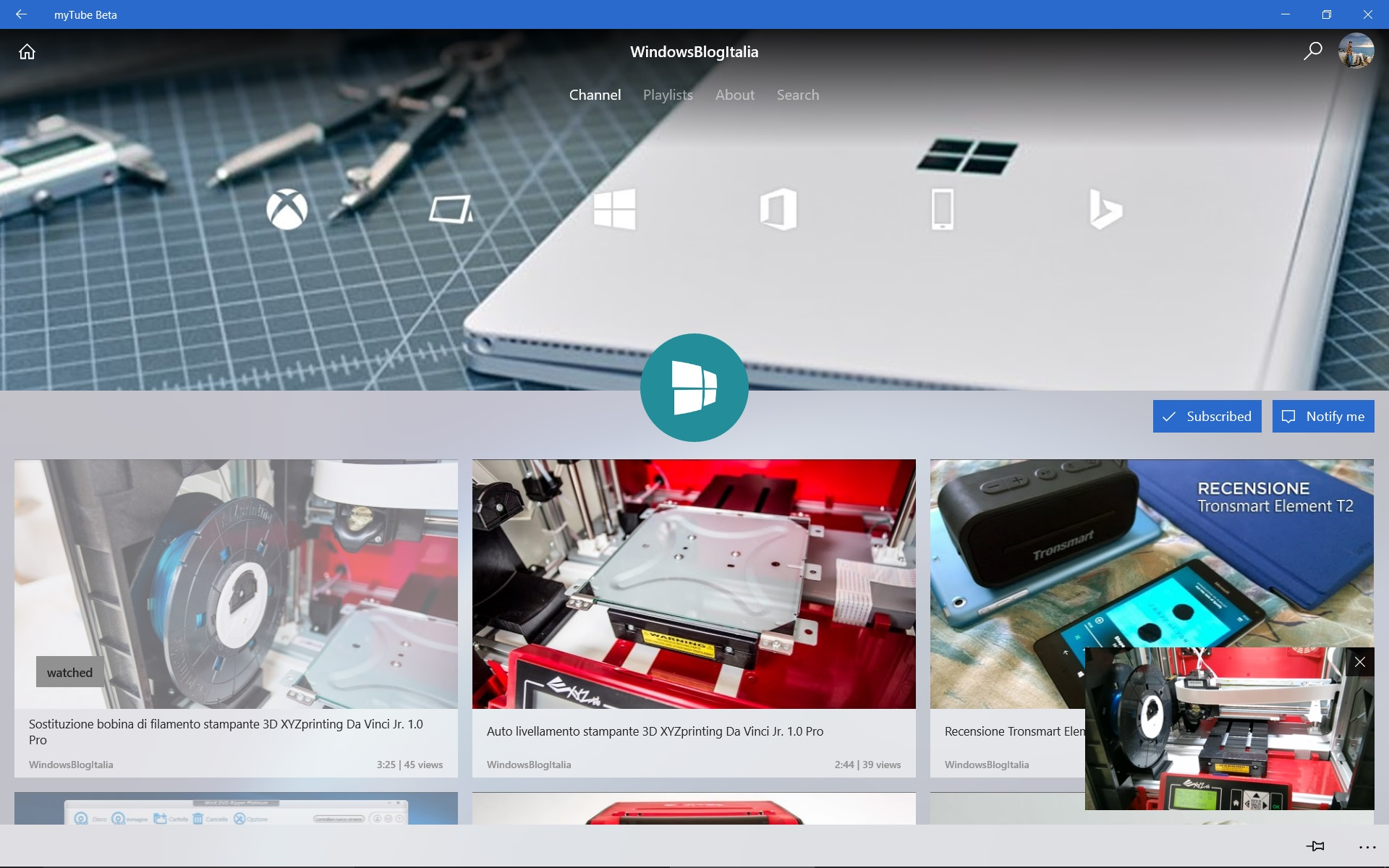 myTube! si rinnova con supporto a Xbox One e Fluent Design