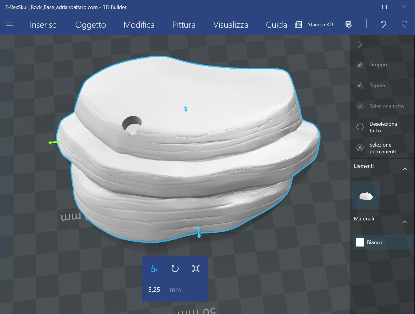 Base T-Rex per stampa 3D