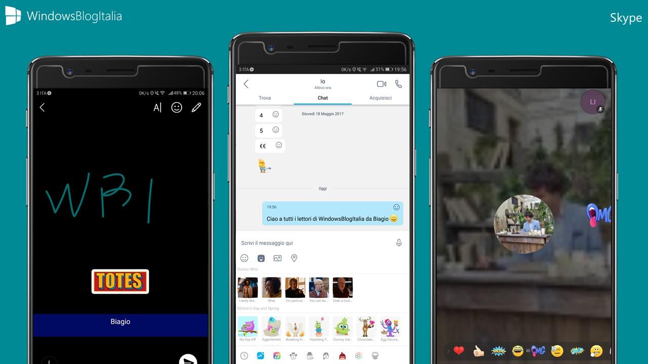Skype - Snapchat