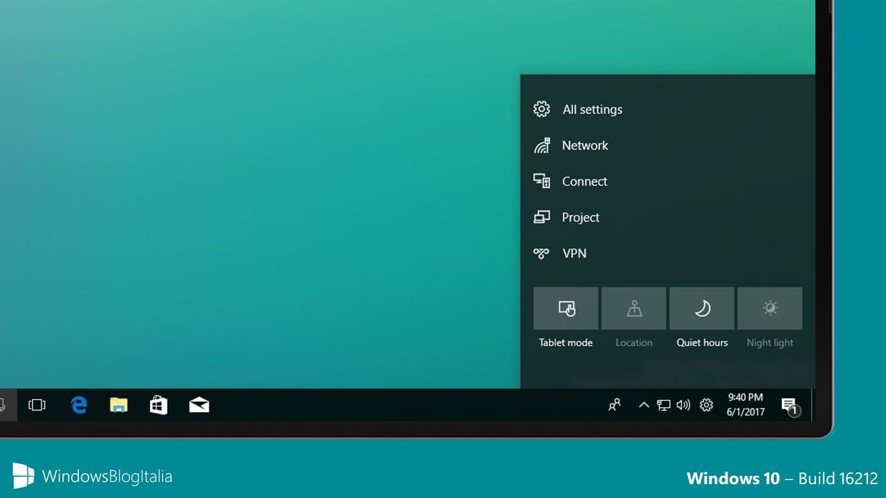 Windows 10 Build 16212