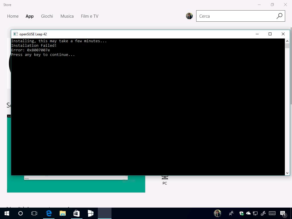 Download delle distro openSUSE e SUSE dal Windows Store