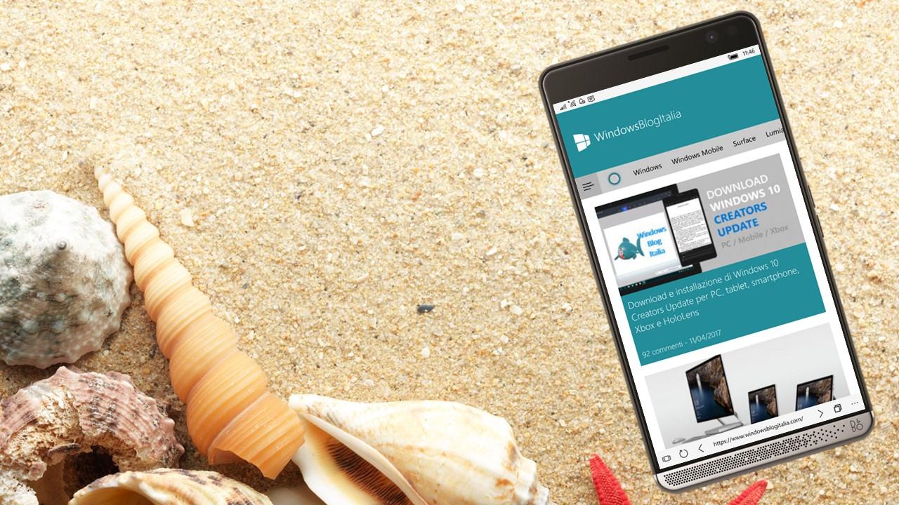 Cambiare il browser predefinito in Windows 10 Mobile