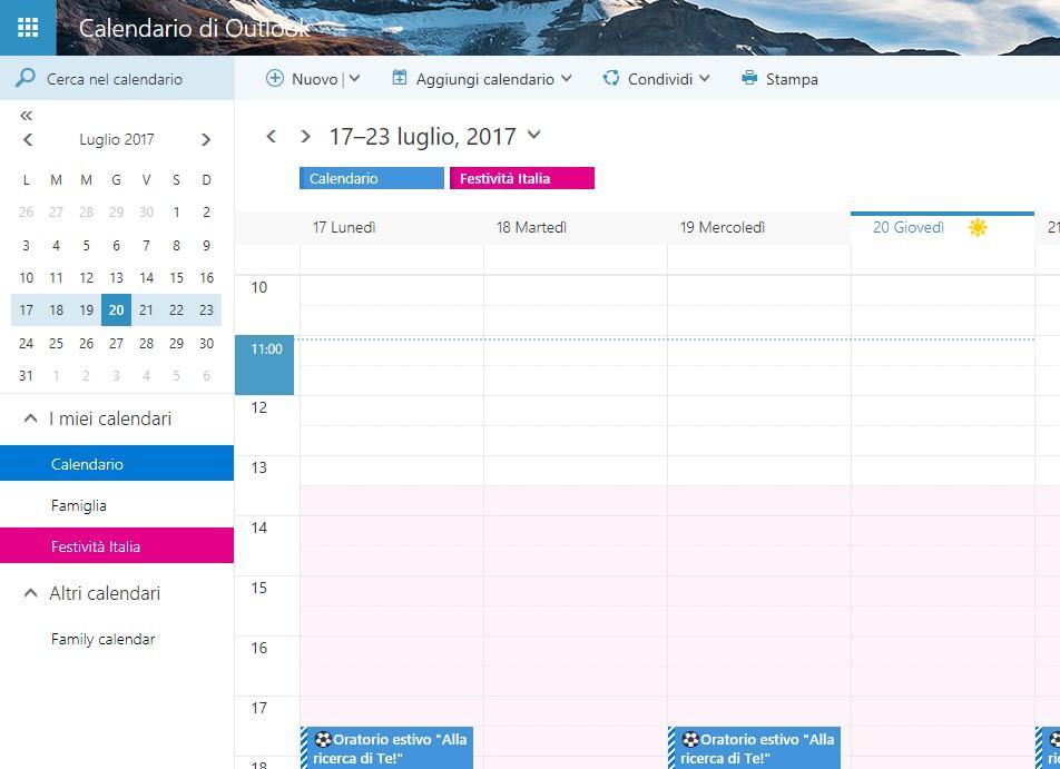 Calendario Outlook.Il Calendario Di Outlook Diventa Piu Intelligente E Proattivo