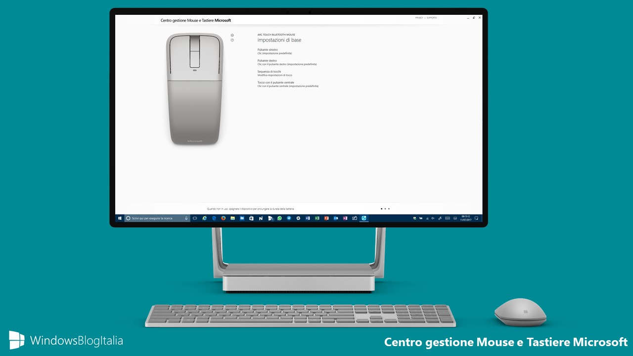 Centro gestione Mouse e Tastiere Microsoft