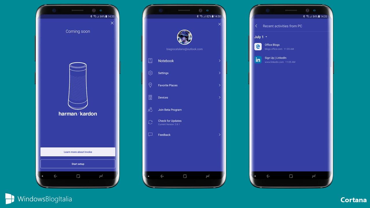 Ripresa delle attività in arrivo anche in Cortana per Android