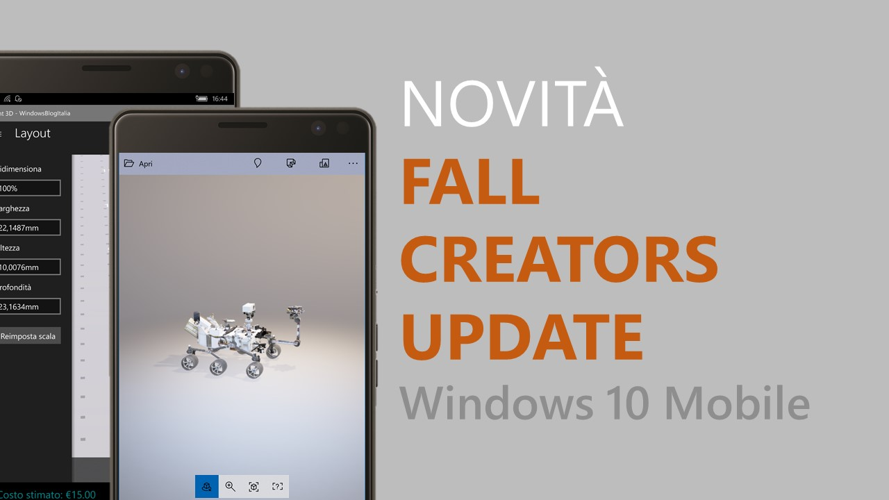 Windows 10 Mobile Fall Creators Update (alias feature2)